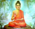 Rysunek z Budda Siakjamuni