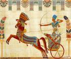Egipski wojownik i rydwan
