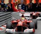 Fernando Alonso - Ferrari - GP Monako 2012 (3 stanowiska)