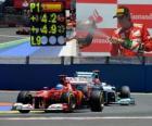 Fernando Alonso świętuje zwycięstwie w Grand Prix Europy (2012)