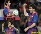Leo Messi, król strzelców w historii ligi hiszpańskiej, 2011-2012