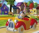 Noddy jazdy samochodu