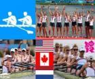 Rowing kobiet coxed osiem dekoracji, Stanami Zjednoczonymi, Kanadą i Niderlandy - London 2012 -