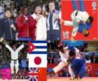 Judo dekoracji kobiet ponad 78 kg, Idalys Ortiz (Kuba), Mika Tetta (Japonia), Karina Bryant (Wielka Brytania) i Tong Wen (Chiny) - London 2012-