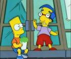 Bart Simpson i Milhouse Van Houten, dwóch wielkie przyjaciół
