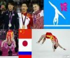 Gimnastyka artystyczna mężczyzn piętro podium, Zou Kai (Chiny), Kohei Uchimura (Japonia) i Denis Abliazin (Rosja), Londyn 2012