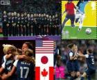 Kobiet piłkarski dekoracji, Stanach Zjednoczonych, Japonii i Kanadzie, London 2012