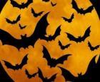 Nietoperze na obchody Halloween