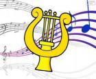 Harfa, rysunek
