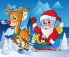 Świętego Mikołaja w saniach