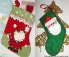 Skarpety świąteczne zdobione Mikołaja