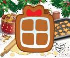 Ciasteczko z kształtem świąteczny prezent