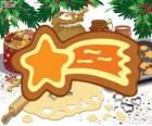Plik ciastko jako Boże Narodzenie gwiazda
