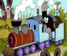 Krecik w lokomotywa