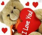 Miś z sercem na Walentynki