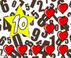 Liczba 10 w star z dziesięciu serc