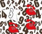 Numer 3 w star z trzema telefonami