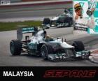 Lewis Hamilton - Mercedes - Grand Prix Malezji 2013, 3 klasyfikowane
