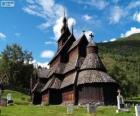 Kościół klepkowy w Borgund, Norwegia