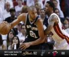 2013 NBA Finals, gra 1, San Antonio Spurs 92 - Miami Heat 88