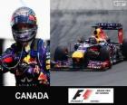 Sebastian Vettel świętuje swoje zwycięstwo w Grand Prix Kanady 2013