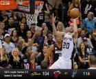 2013 NBA Finals, 5 gry, Miami Heat 104 - San Antonio Spurs 114