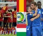 Hiszpania - Włochy, półfinał, Puchar Konfederacji w piłce nożnej 2013