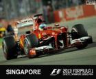 Fernando Alonso - Ferrari - 2013 Grand Prix Singapuru, 2 ° sklasyfikowane