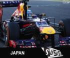 Sebastian Vettel świętuje swoje zwycięstwo w Grand Prix Japonii 2013