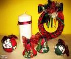 Różne ozdoby świąteczne