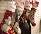 Skarpety świąteczne z dekoracją