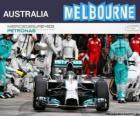 Nico Rosberg świętuje swoje zwycięstwo w Grand Prix Australii w 2014 roku
