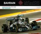 Mistrz Lewis Hamilton 2014 roku Grand Prix Bahrajnu