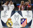 Real Madryt vs Atletico. Final UEFA Champions League 2013-2014. Estadio da Luz, Lizbona, Portugalia