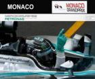 Nico Rosberg świętuje swoje zwycięstwo w Grand Prix Monako w 2014 roku