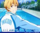 Nagisa z dres klubu basen Iwatobi