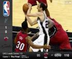 2014 NBA Finals, 1 mecz, Miami Heat 95 - San Antonio Spurs 110