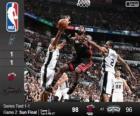 2014 NBA Finals, 2 mecz, Miami Heat 98 - San Antonio Spurs 96