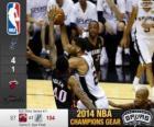 2014 NBA finały, 5 meczu, Miami Heat 87 - San Antonio Spurs 104