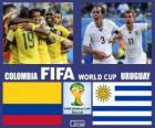 Kolumbia - Urugwaj, mecze ósmej, Brazylia 2014