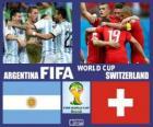 Argentyna - Szwajcaria, mecze ósmej, Brazylia 2014