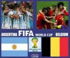 Argentyna - Belgia, ćwierćfinały, Brazylia 2014