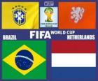 Mecz o 3 miejsce, Brazylia 2014, Brazylia vs Holandia