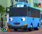 TAYO wesoły i optymistyczna niebieski autobus