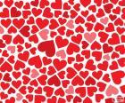 Dekoracja czerwone serca na Walentynki