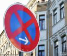 Pionowe sygnał stop i parkingu zabronione