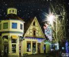 Ulica z Boże Narodzenie światła