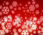 Czerwone Boże płatki śniegu