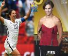 Gracz Świata FIFA kobiet 2015 roku zwycięzcy Carli Lloyd