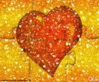 Czerwone serce puzzle